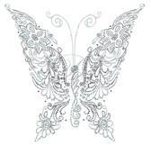 Ovrs7428 - Butterfly Floral Pattern