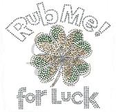 Ovrs7427 - Rub Me for Luck w/ Shamrock
