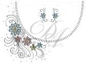 Ovrs7424 - Spring Flowers Swirl Round Neckline