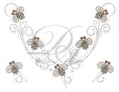Ovrs6172 -  Bumblebee Swirl V-Neckline