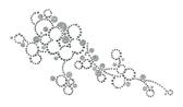 Ovrg001 - Bubbly Flowers w/ Glitter