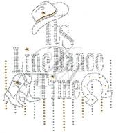 Ovrs7515 - It's Line Dance Time w/ Hat, Boot, & Horseshoe