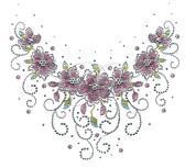 Ovrs7142 - Floral Swirly Round Neckline