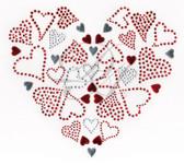Ovrs4910 - Heart Shape made with Assorted Hearts