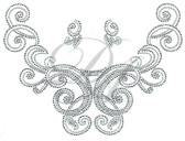 Ovrs7483 - Elegant Swirl Round Neckline