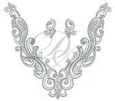 Ovrs7484 - Elegant Swirl V-Neckline