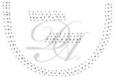 Ovrs7559 - Black & Silver Scattered Round Neckline