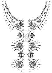 Ovrs1433B - Black & Clear Floral Jacket Design