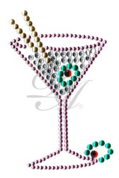 Ovr30s - Martini Glass with Olive - ON SALE!