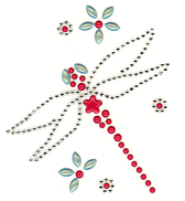 Ovrc1416 - Dragonfly w/ Small Flowers