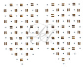 Ovrs5808 - Rectangle Nailheads w/ Clear Stones Decor
