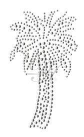 Ovrs988 - Palm Tree w/ Silver Nailheads