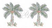 Ovrs416s - Vibrant Palm Trees