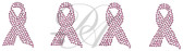 Ovrs1307B - Cancer Awareness Ribbon in Pink