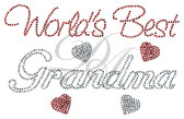 Ovrs4974 - World's Best Grandma with Small Filled Hearts