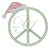 Ovrs2419 - Peace Sign w/ Santa Hat