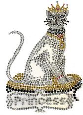 Ovrs1421 -  Princess Cat w/ Crown