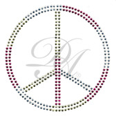 Ovrs023L - Clear, Pink, & Lt. Yellow Peace Sign