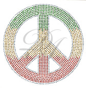 Ovrs2499 - Multi-Color Caribbean Peace Sign