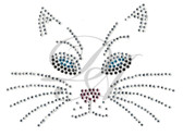 Ovrs935Bs - Small Cat Face For Face Mask
