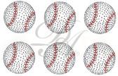 Ovrs5256 - 6 Baseballs Per Set