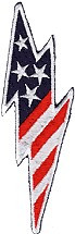 Ov0885- US Flag Lightning Bolt
