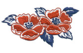 Ov10419 - Red, White, & Blue Pair of Flowers