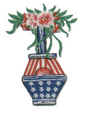 Ov10411 - Flowers in Patriotic Vase