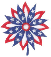 Ov10416 - Patriotic Flower w/ Star Petals