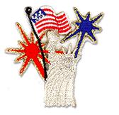 Ov9756 - Statue of Liberty w/ Flag & Fireworks