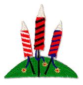 Ov12916 - Set of 3 Fireworks