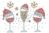 Ovrs7546s - Christmas Celebration Drinks w/ Santa Hats for Masks