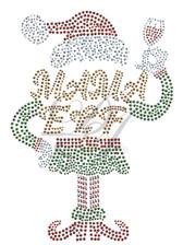 Ovrs7540 - Mama Elf w/ Wine Glass