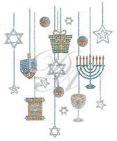 Ovrs7569 - Hanging Hanukkah Elements