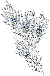 Ovrs5690  - Peacock Feather Rhinestone Decor