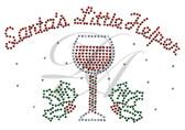 Ovrs7519s - Santa's Little Helper w/ Wine Glass for Mask