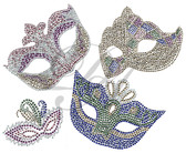 Ovrs7606 - 4 Mardi Gras Masks