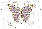 Ovrs1623 - Lilac Butterfly with Scattered Gold Nailheads