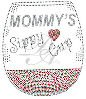 Ovrs7730 - Mommy's Sippy Cup w/ Wine Glass
