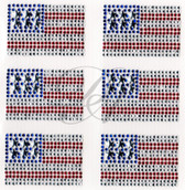 Ovr80 - Mini American Flags 6 per sheet - ON SALE!