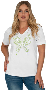 Style # 1004 - White w/ Design # Ovrs2503 (Lime)