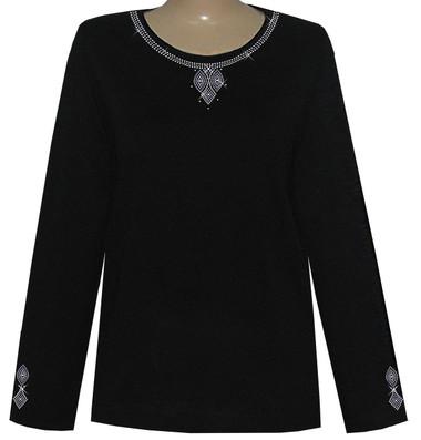 Style # 1009 - Black w/Design # Ovrs7200