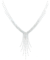 Ovrh2208 - V Neckline with Drop Jewels