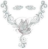 Ovrs6152 - Butterfly Round Neckline