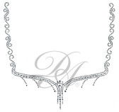 Ovrs5150 - Swirly Diamond Square Neckline