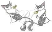 Ovrs2093 - Sexy Cat w/Martini V-Neckline - ON SALE!