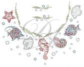 Ovrs2085 - Sea Life Round Neckline
