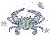 Ovrs9802B - Teal Crab with Starfish and Seashells