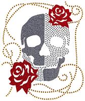 Ovskg18 - Skull with Roses - ON SALE!