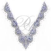 Ovrs2089 -  Blue Swirls V Neckline - ON SALE!